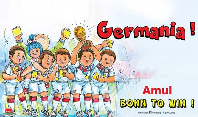 Amul celebrates Germany's historic 2014 World Cup win in its own style!