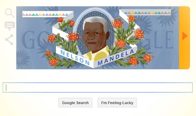 A doodle you cannot miss: Google Doodle celebrates Nelson Mandela's 96th birth anniversary!
