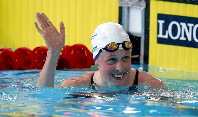Commonwealth Games 2014: Scotland swimmer Hannah Miley sets new record