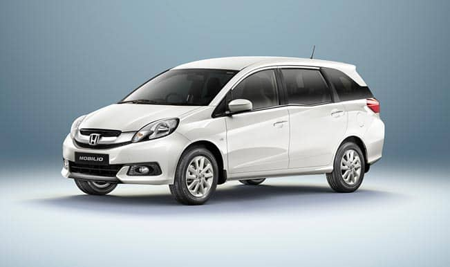Honda launches its 7 seater mpv mobilio in india starting for Honda 7 passenger