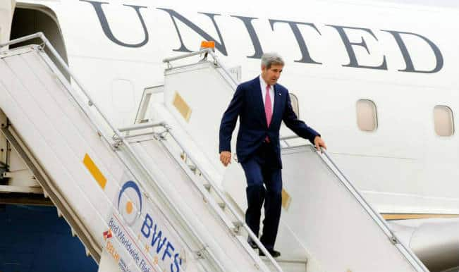 John Kerry arrives for Indo-US strategic dialogue
