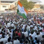Congress workers protest against Bharatiya Janata Party for not curbing…