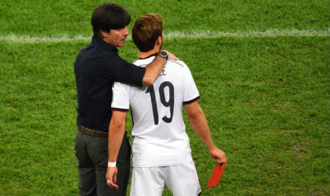 Mario Gotze and Joachim Loew