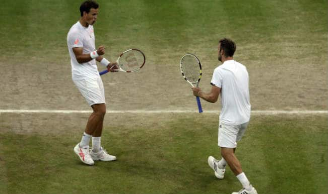 Bryan Brothers stunned by first-timers Jack Sock and Vasek Pospisil at Wimbledon