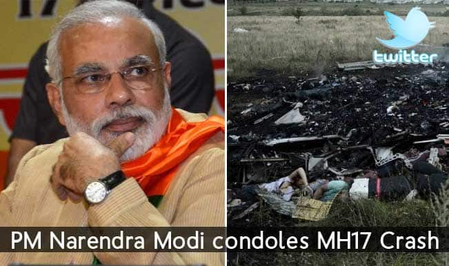 Malaysia Airlines #MH17 Crash: Prime Minister Narendra Modi condoles the loss of lives on Twitter
