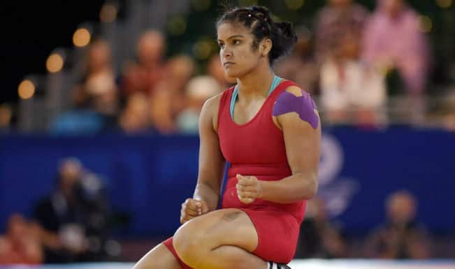 Navjot Kaur wins bronze medal in Women's Freestyle 69 kg at the Commonwealth Games 2014