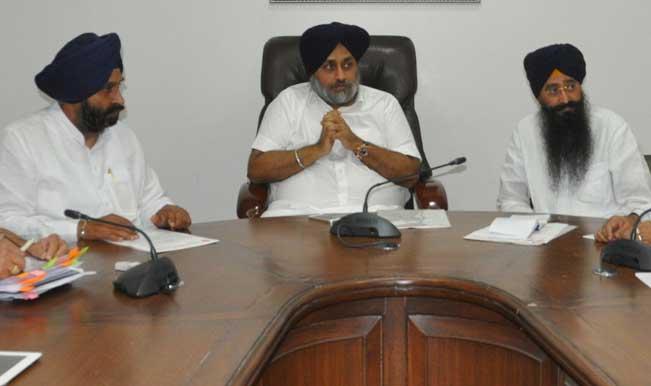 Sukhbir Singh Badal accuses Congress of dividing Sikhs