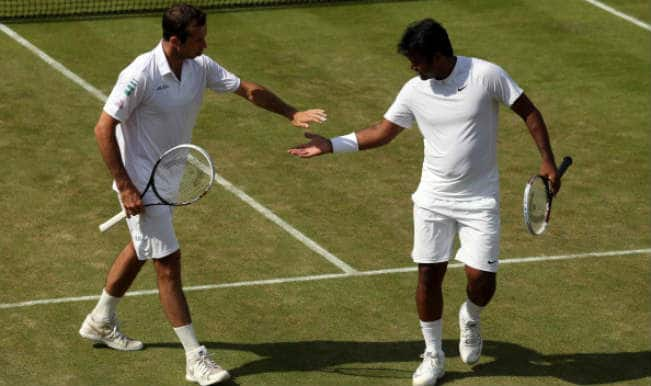 Leander Paes-Radek Stepanek upset third seeds; enter Wimbledon men's doubles semifinals