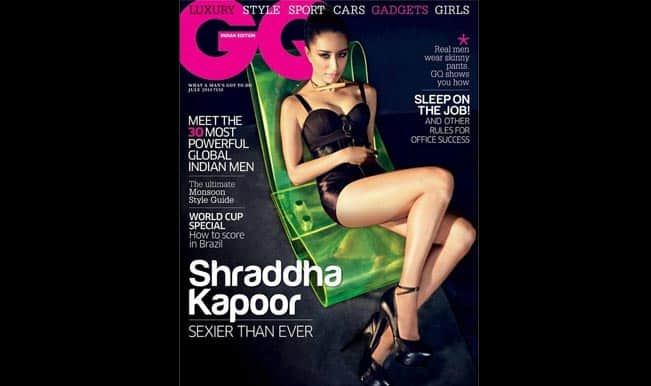 Shraddha Kapoor dons her sexy avtaar on the cover of GQ magazine!