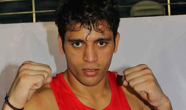 Pugilist Sumit Sangwan eases into men's 81kg quarters in 2014 Commonwealth Games