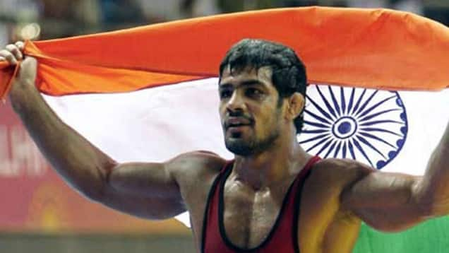 Sushil Kumar wins gold in men's 74 kg wrestling event at Commonwealth Games 2014