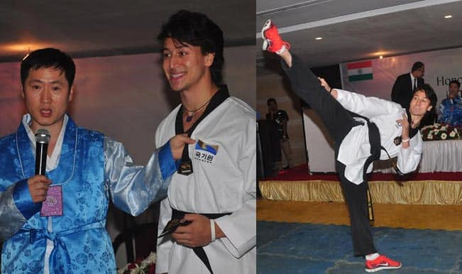 Tiger Shroff has been awarded with an honorary 5th degree black belt!