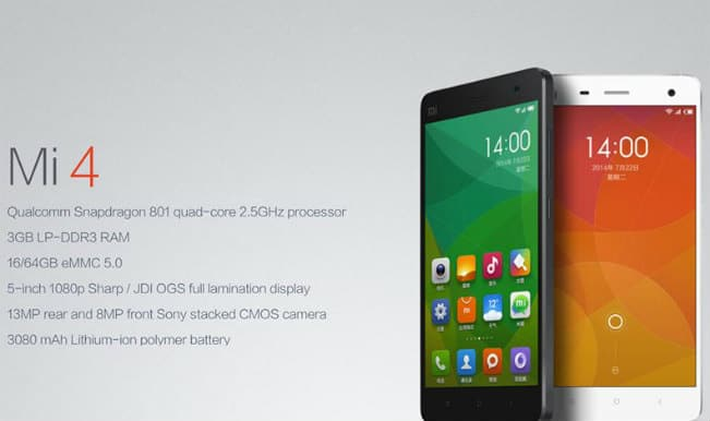 Xiaomi Mi4 announced; backed by 2.5 GHz quad-core processor and 3GB Ram!