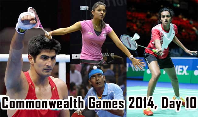 Commonwealth Games 2014 Live Updates: Dipika-Joshna win gold, boxers take silver as India bags 10 medals on Day 10