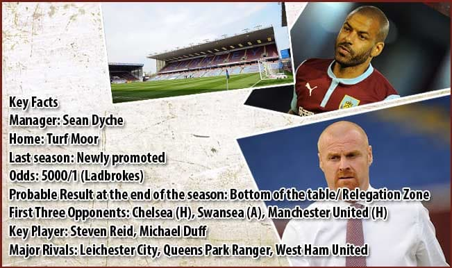 Barclays Premier League 2014-15 Team Preview: Burnley