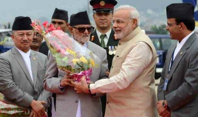 Narendra Modi arrives in Nepal to a grand welcome