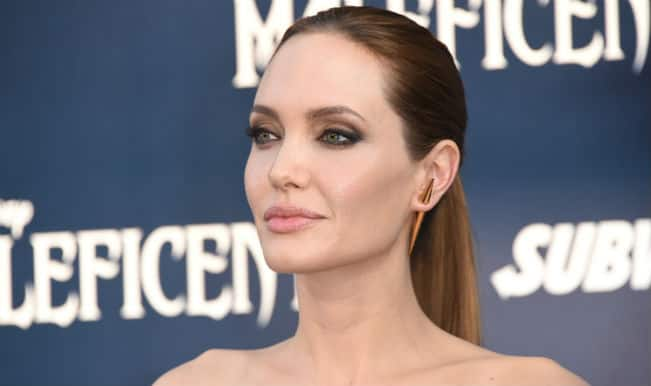 Angelina Jolie says she is lucky to have fiance Brad Pitt in her life