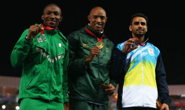 Arpinder Singh wins bronze in Men's Triple Jump at the Commonwealth Games 2014