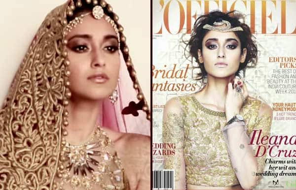Watch making: Sexy bride Ileana D'Cruz features on L'Officiel India August 2014