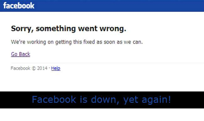 Facebook server down for the second time in recent months!