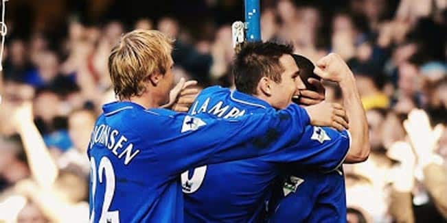 The goals Lampard scored against Manchester City