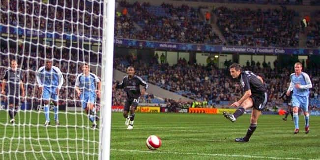 The goals Lampard scored against Manchester City2