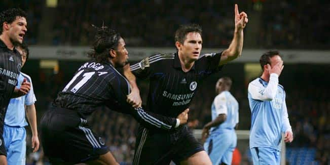 The goals Lampard scored against Manchester City 3