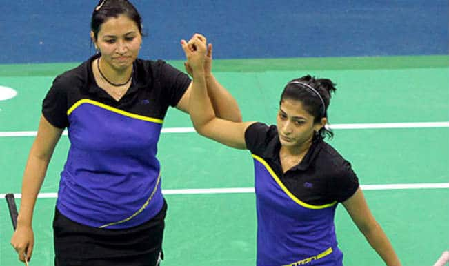 Jwala Gutta and Ashwini Ponnappa get silver in the Women's Doubles in the Commonwealth Games 2014
