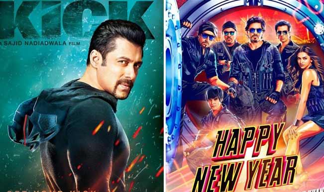 Is Salman Khan's Kick poster more impressive than Shah Rukh Khan's Happy New Year still?