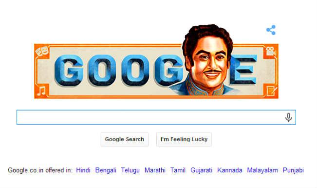 Kishore Kumar Google Doodle