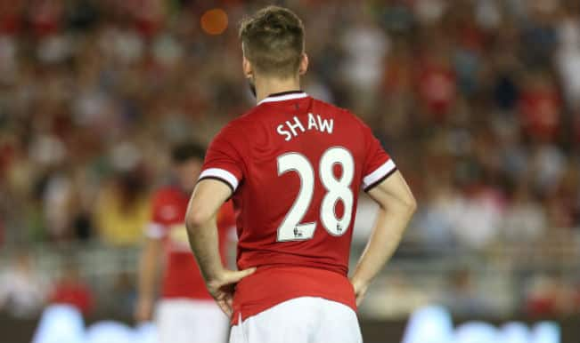 Manchester United's Luke Shaw out for a month after suffering a hamstring injury