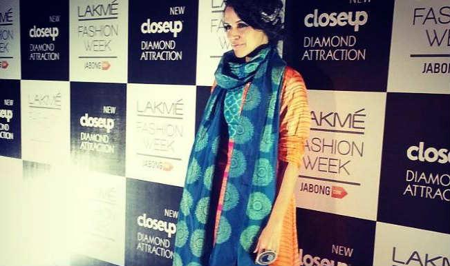 Lakme Fashion Week 2014: Neha Dhupia rocks Swati Vijaivargie's ensemble with élan