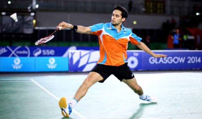 Shuttler Parupalli Kashyap wins gold in the Men's Singles Final at the Commonwealth Games 2014