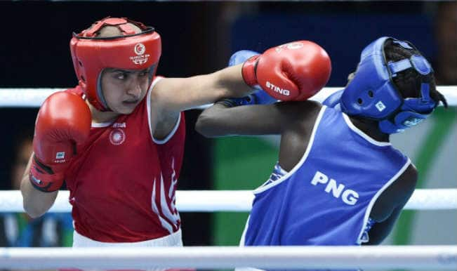 Boxer Pinki Rani wins bronze in the Women's Flyweight (48-51 kg) at the Commonwealth Games 2014