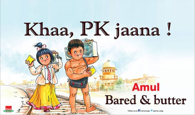 Aamir Khan's PK third poster out: But in Amul's Utterly Butterly style!