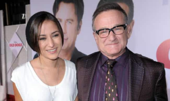 Robin Williams with his daughter