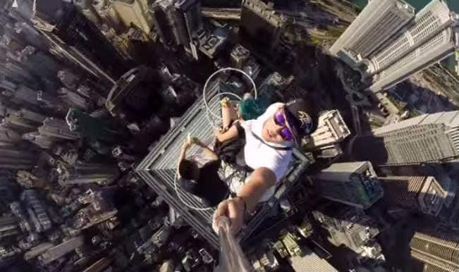 World's scariest selfie: Students take selfie on Hong Kong's fifth-tallest skyscraper