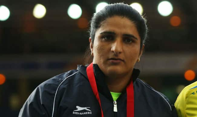 Seema Punia bags silver medal in the Women's Discus Throw Final at the Commonwealth Games 2014
