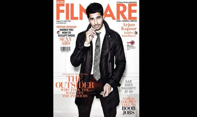 Sidharth Malhotra looks dreadfully sexy on the Filmfare cover!