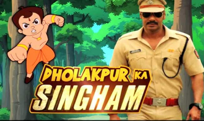 Watch: Ajay Devgn and Chhota Bheem in 'Dholakpur Ka Singham' song