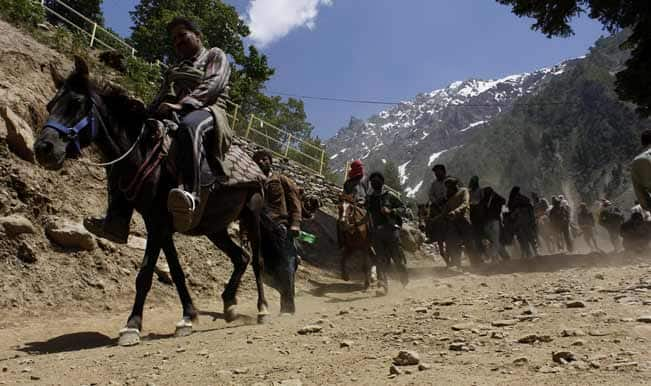 Amarnath Yatra: Small batch of 122 pilgrims leave for cave shrine in Kashmir