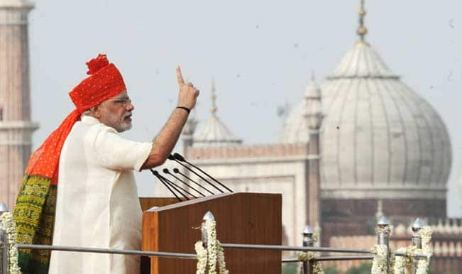 See pictures: Narendra Modi addressing the nation on the occasion of Independence Day