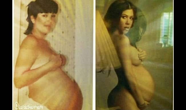 Kourtney Kardashian's nude photo shoot; like mother like daughter