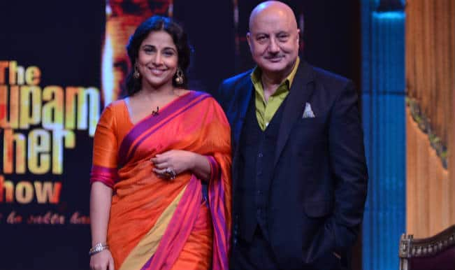 Vidya Balan sizzles in Sari on The Anupam Kher Show