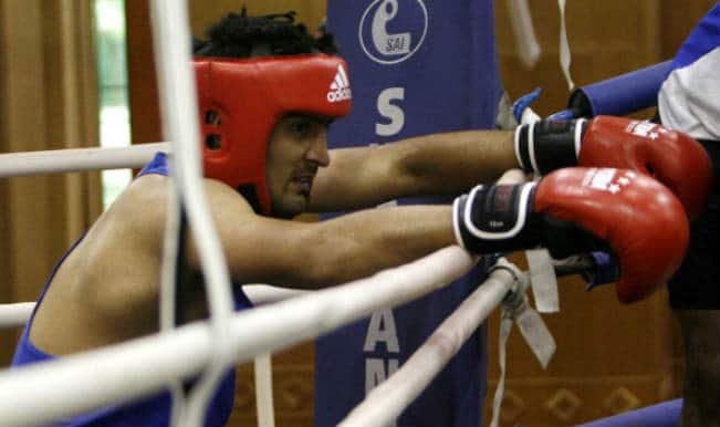 Boxer Vijender Singh settles for silver medal in the Commonwealth Games 2014