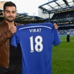Virat Kohli at Chelsea's Stamford Bridge