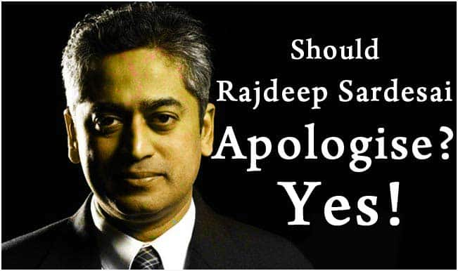 Rajdeep Sardesai slapped at Madison Square Garden: The senior journalist should come out with a public apology!