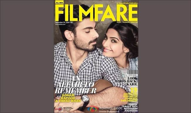 Filmfare Cover September 2014 Issue: Sonam Kapoor and Fawad Khan a perfect Khoobsurat couple
