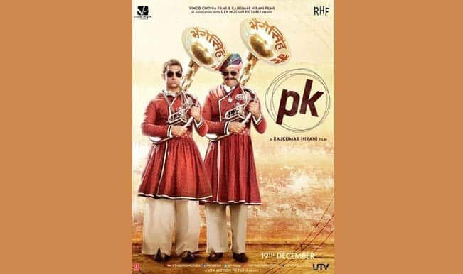PK fourth poster: Sanjay Dutt joins Aamir Khan with the Bhopu!