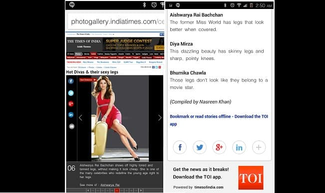 Aishwarya Rai Bachchan from 'Hot Divas with Sexy Legs' to 'Hot Babes With Ugly Legs': TOI's Changing Point of View